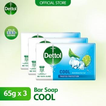 Dettol Body Soap Cool 65g x 3's
