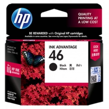 HP 46 Black Ink Cartridge (CZ637AA)