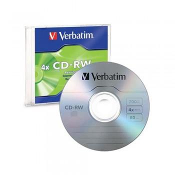 Verbatim CD-RW 700mb 80min with Casing