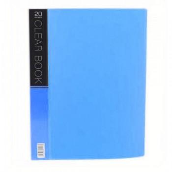 CBE Merry Colour Clear Book VK20 A4 BLUE (20 Pockets)
