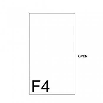 East-File Clear / Transparent - C Shape F4 Folder (Item No: B11-41 CF4) A1R1B100
