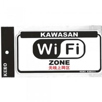 KENO Plastic Notice Sign — WiFi ZONE