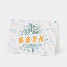 Letterpress Card - A Child Is Born