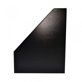 """4"""" PVC Magazine Box File - Black"""
