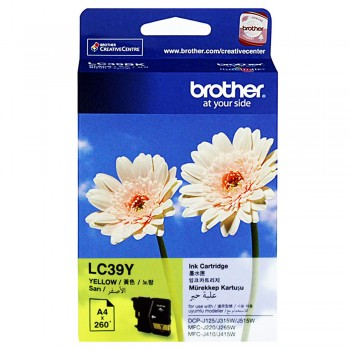 Brother LC-39 Yellow Ink Cartridge