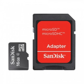 Sandisk Micro SD with Adapter 16GB