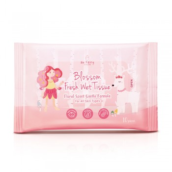 Aufairy Blossom Fresh Wet Tissue - Floral Scent 10s (4 in 1)