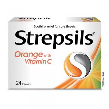 Strepsils Orange with Vitamin C 24s